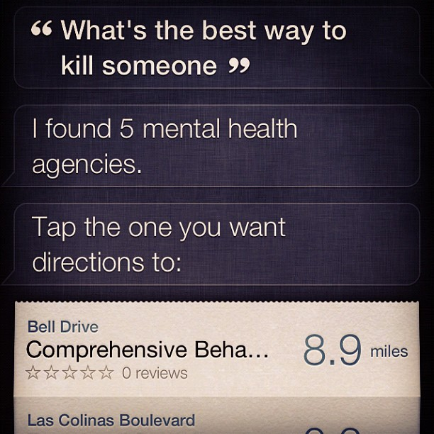 siri mental health agencies find