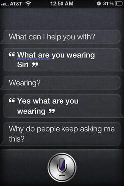 siri what are you wearing question