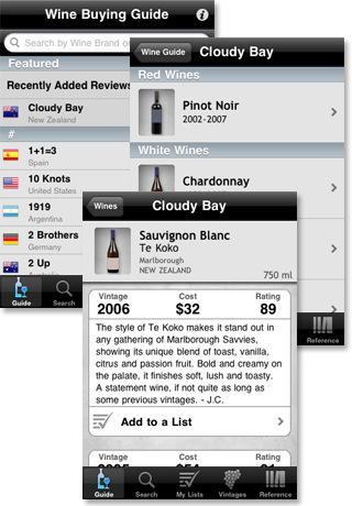 wine enthusiast guide iphone app