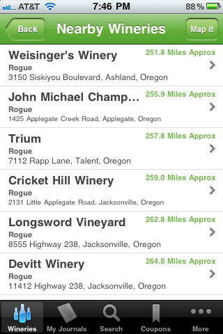 wine wherever oregon app