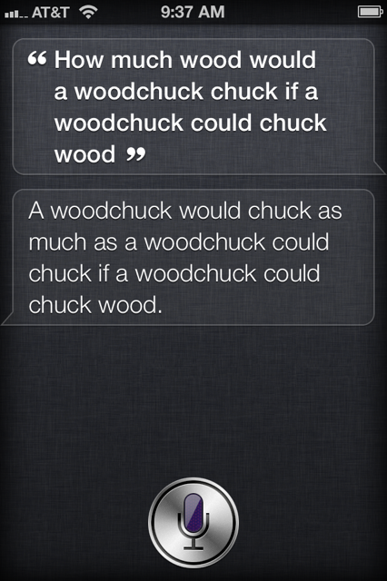 woochuck chuck question siri