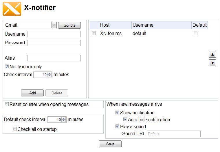 x-notifier options