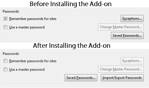 firefox password exporter add-on