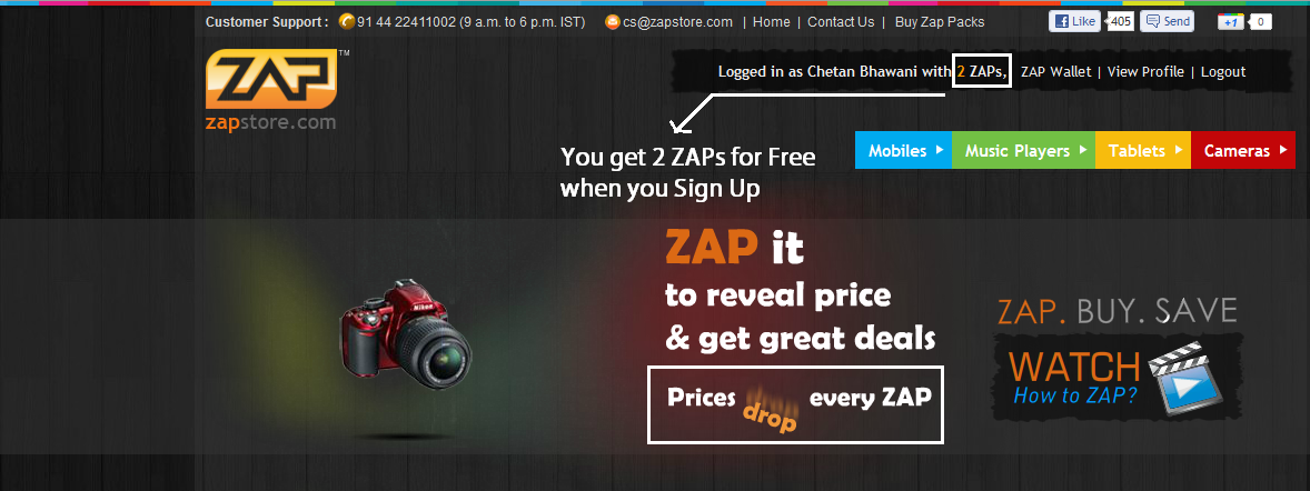 ZapStore – Online Gadget Shoppe with a Unique Concept – Review