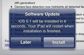 iOS 5.1 restarting