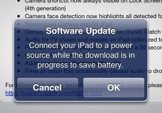 iOS 5.1 update connect power