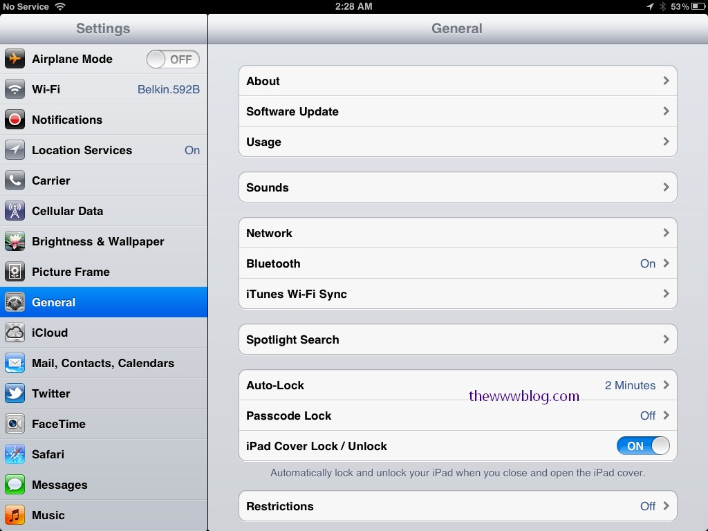 iOS 5.1 update settings