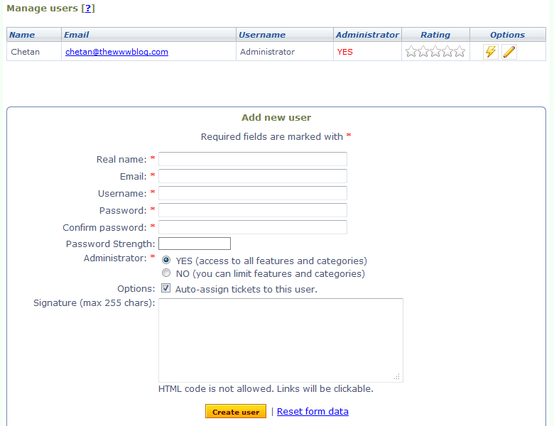 Hesk admin users