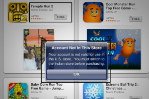 [iOS How-to] Switch Apple iTunes App Store from XXX Location to YYY Location – To Fix Account not Valid Error