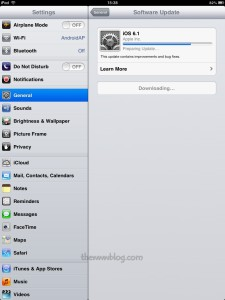Apple iPad Mini iOS 6.1 Update 8