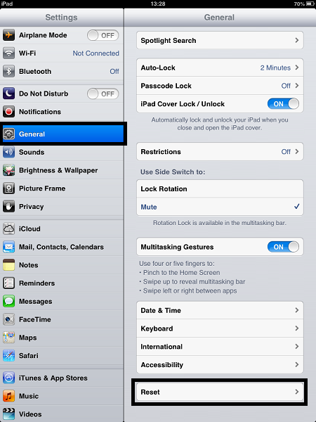 iOS 6.0.2 General Settings