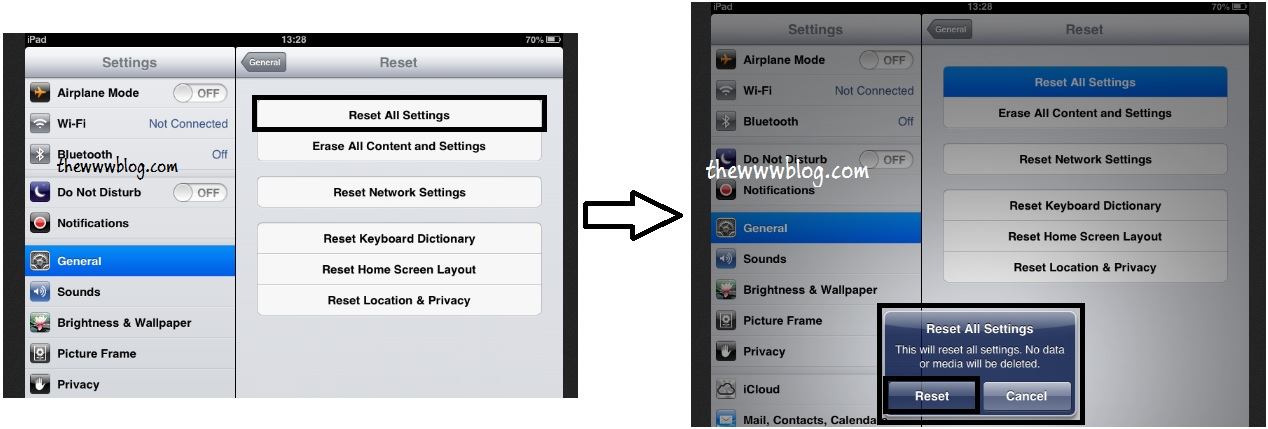 iOS 6.0.2 Reset All Settings