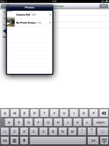 iOS Attach Photo from Camera Roll Photo Stream