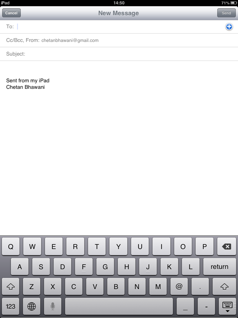 iOS Mail Signature
