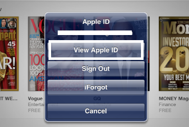 iOS View Apple ID