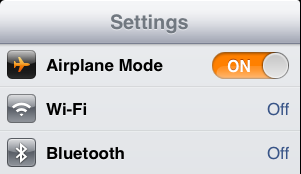 iPad Mini Battery Airplane Mode