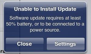 iPad Mini Unable to Install Update