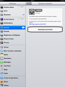 iPad Mini Update Available