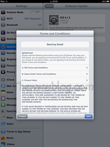 Apple iOS Update Terms and Conditions