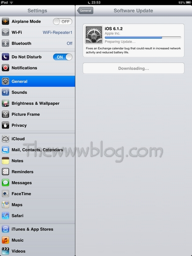 Apple iOS Update Updating