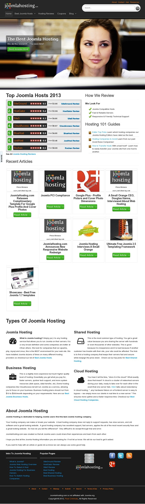 Joomla Hosting Website