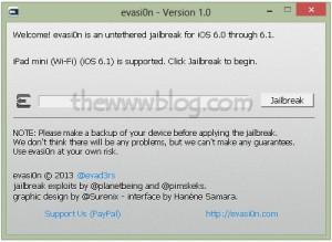 iOS 6.1 Jailbreak evasi0n tool 1