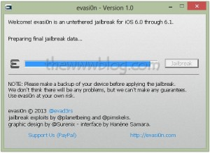 iOS 6.1 Jailbreak evasi0n tool 10