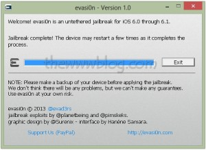 iOS 6.1 Jailbreak evasi0n tool 11
