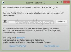 iOS 6.1 Jailbreak evasi0n tool 12