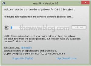 iOS 6.1 Jailbreak evasi0n tool 2