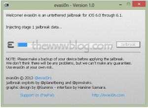 iOS 6.1 Jailbreak evasi0n tool 3