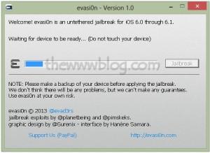 iOS 6.1 Jailbreak evasi0n tool 5