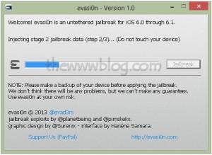 iOS 6.1 Jailbreak evasi0n tool 6