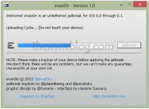 iOS 6.1 Jailbreak evasi0n tool 7