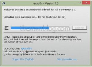 iOS 6.1 Jailbreak evasi0n tool 8