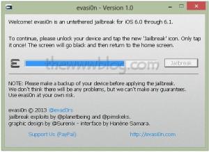iOS 6.1 Jailbreak evasi0n tool 9