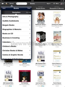 Amazon Windowshop iPad App Browse
