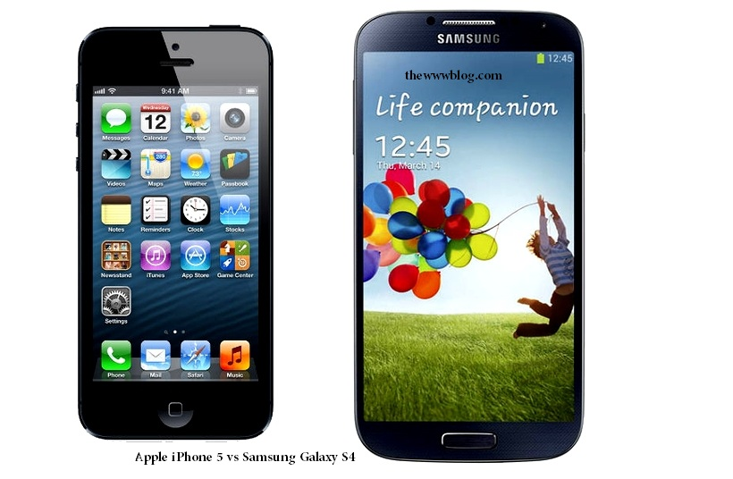 Apple iPhone 5 vs Samsung Galaxy S4 Smartphone Comparison – Specs, Features