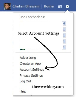 Facebook Settings Tab
