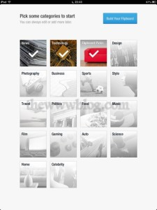 Flipboard categories