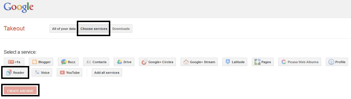 Extract Google Reader Data & Subscriptions with Google Takeout