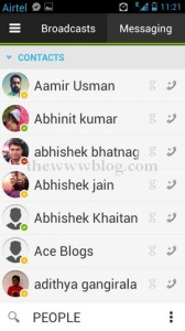 IMO Messenger Android Friends List