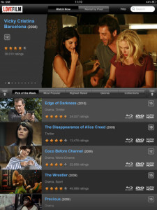LOVEFiLM Player iPad