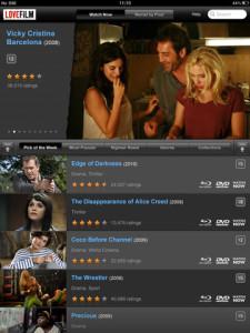 LOVEFiLM Player iPad
