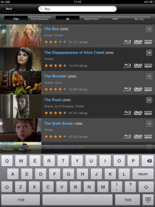 LOVEFiLM Player iPad App