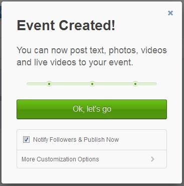 Livestream event created