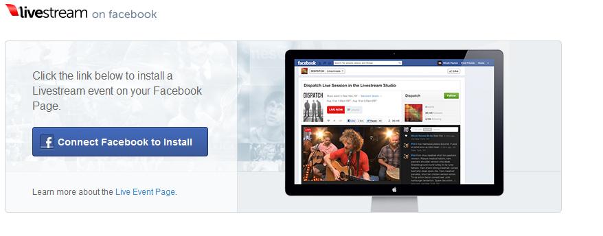 Livestream facebook app