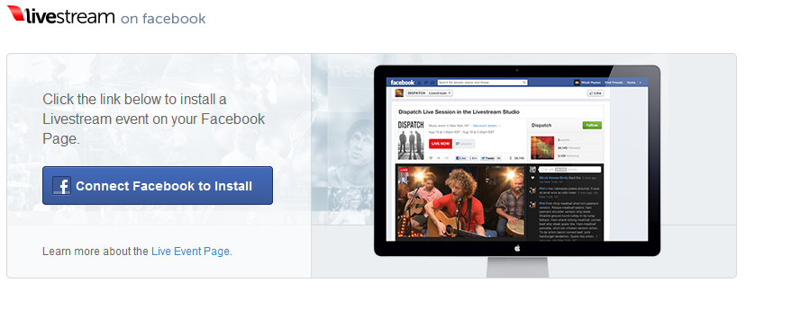 How to Install LiveStream Live Streaming App on a Facebook Page for Audio / Video Streaming