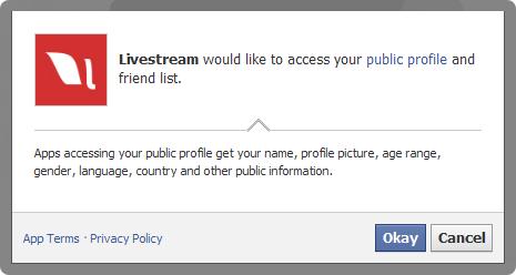 Livestream profile access