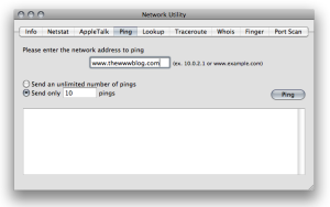 Mac Network Utility Ping